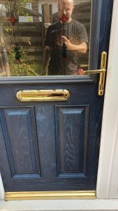 Rushden Letter plate handles and high security lock